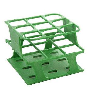 9-Place Half OneRack for 30mm tubes, Green 8/case