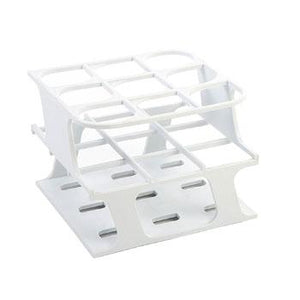 9-Place Half OneRack for 30mm tubes, White 8/case
