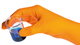 SHIELDskin Orange Nitrile 300, Pack of 50 gloves