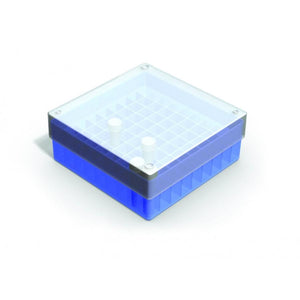 B10021 = Cryo storage box 81 position (working range 110 °C down to -200 °C), blue, pack of 5