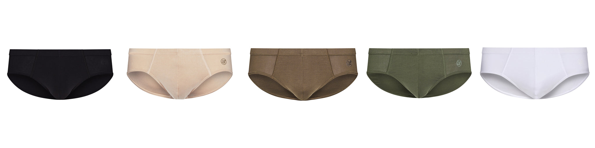 BANG AND STRIKE MICROMODAL SLIP BRIEF IN 5 COLOURS - BLACK, DESERT, KHAKI, RIFLE GREEN AND WHITE