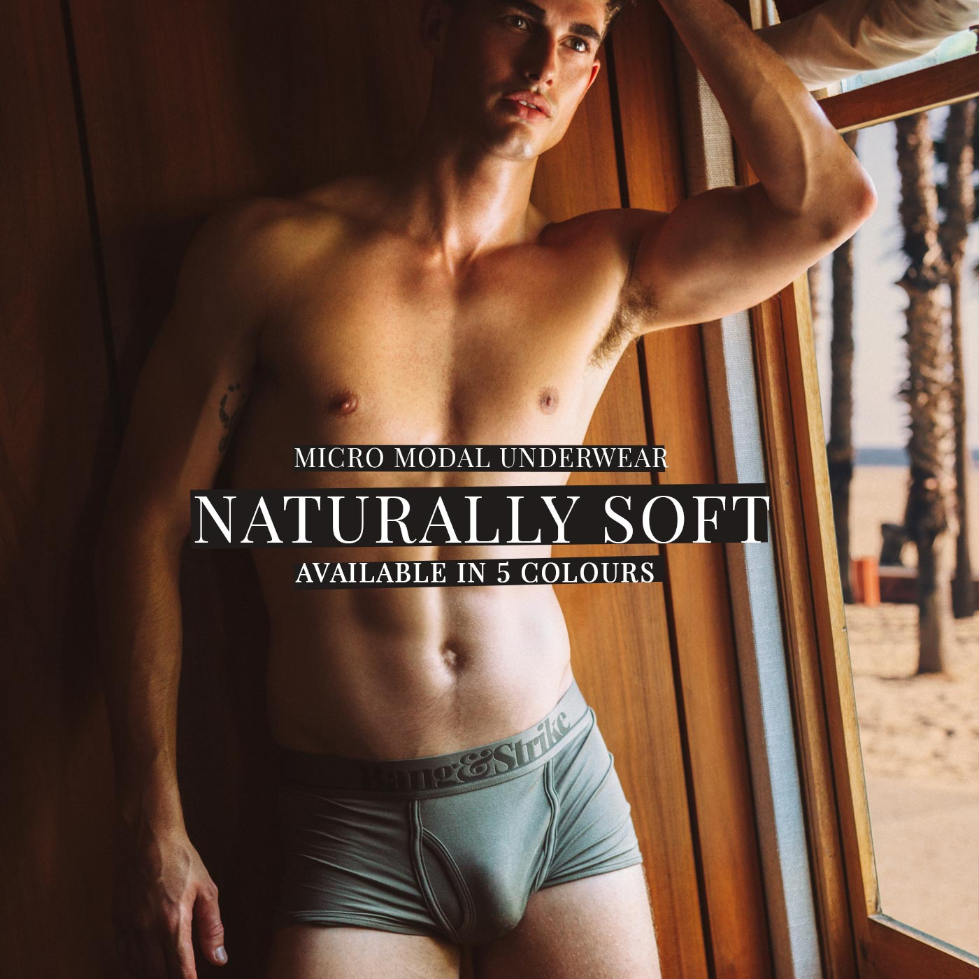 KIERAN WARNER shot by Christian Oita in BANG&STRIKE mens underwear