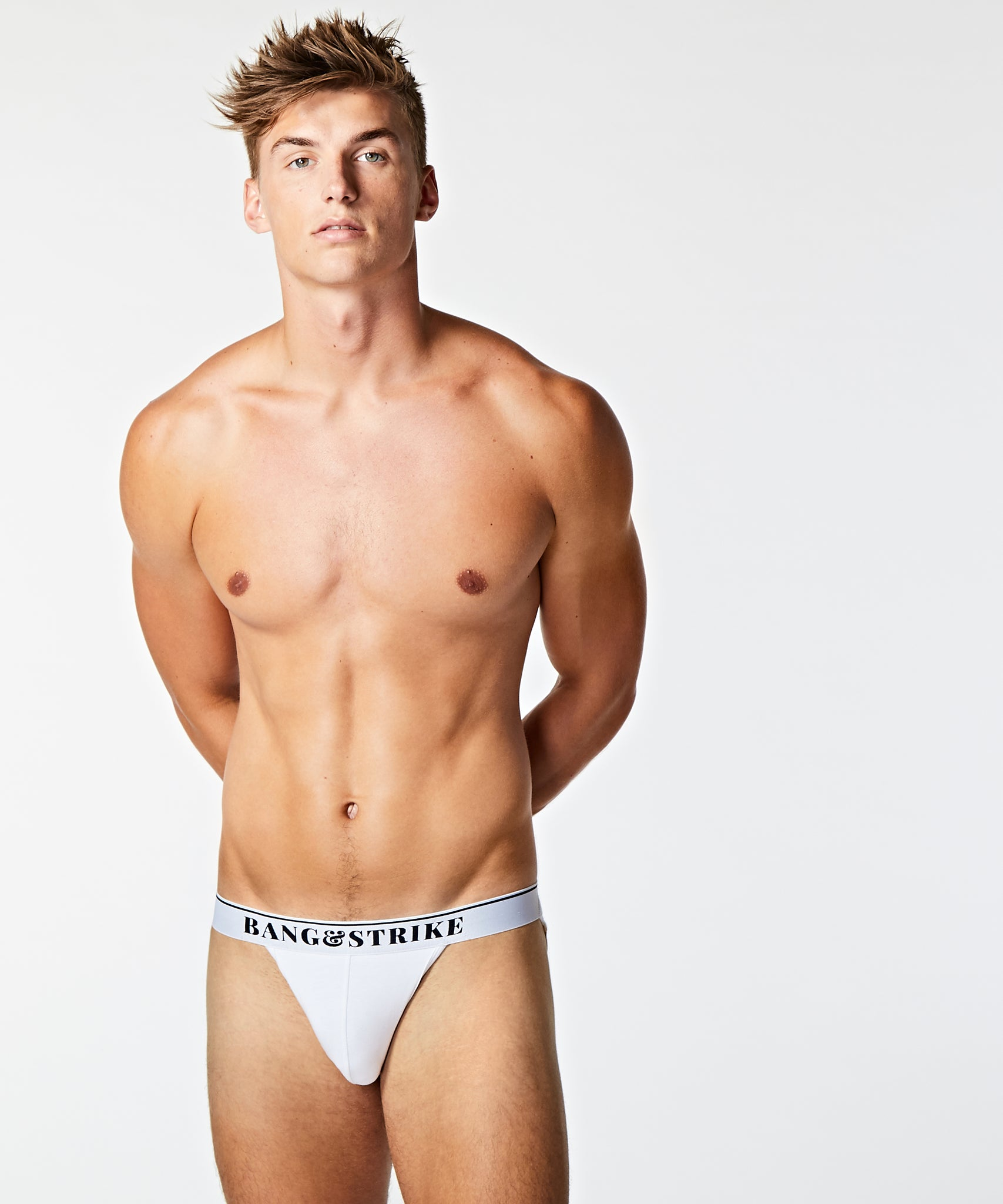 Core Cotton Jockstrap White - BANG & STRIKE
