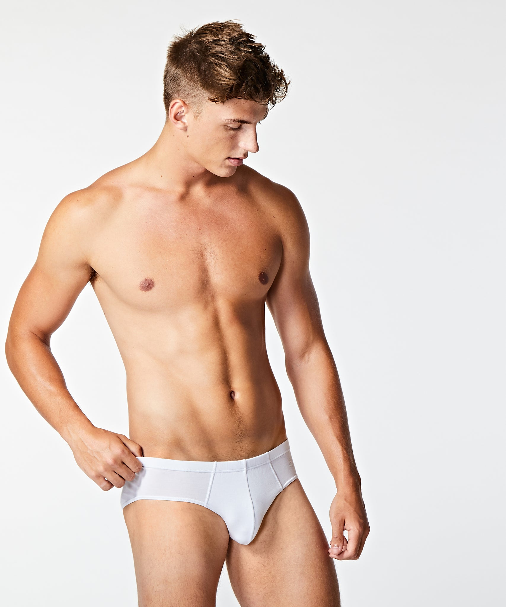 Micro Modal Slip Brief White - BANG & STRIKE