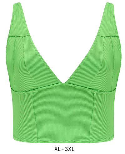 Holly Long line Bikini top (non wired) with seam detail