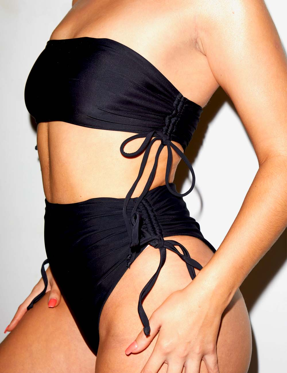 ECO  Tie Side High-waist Bikini Pant