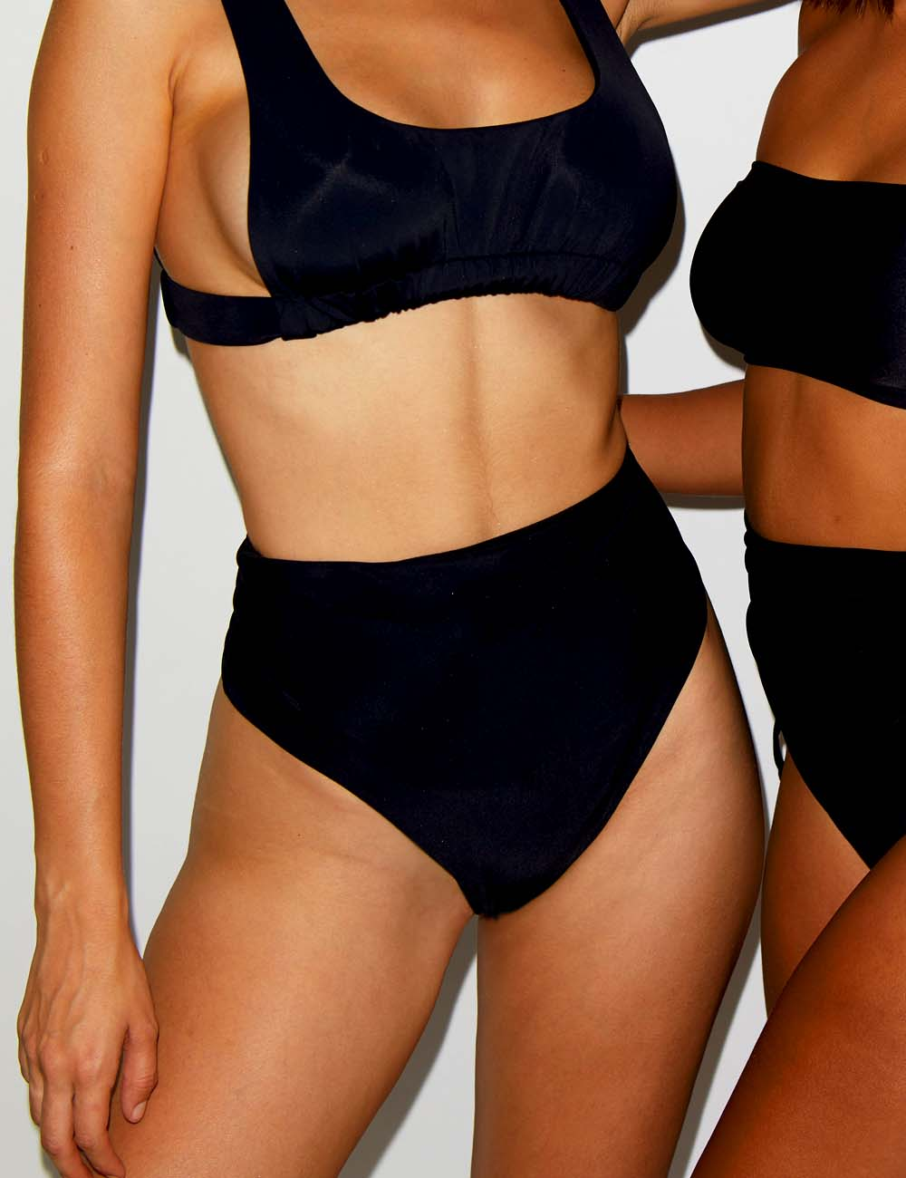 ECO Ruched Square Neck Bikini Crop Top