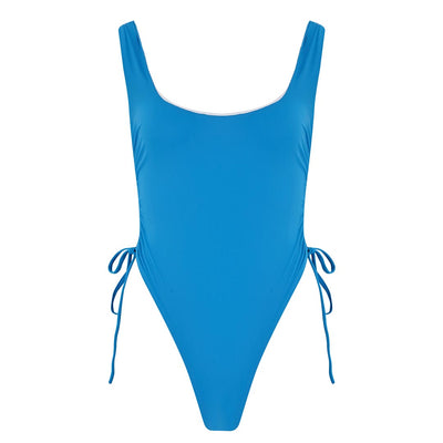 ECO Sophia Blue Ruched Side Swimsuit