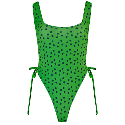 ECO Sophia Spot Ruched Side Swimsuit