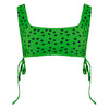 ECO Eva Spot Square Neck Crop