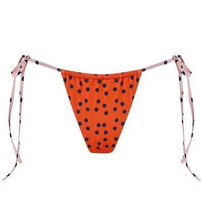 ECO Melissa Spot Gathered Tie Side Bikini Pant