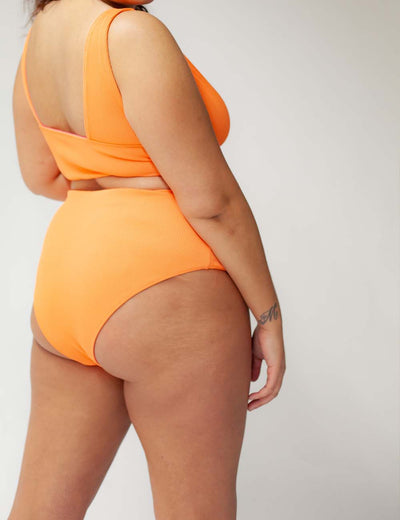 REVERSIBLE High Waist Pant orange/pink
