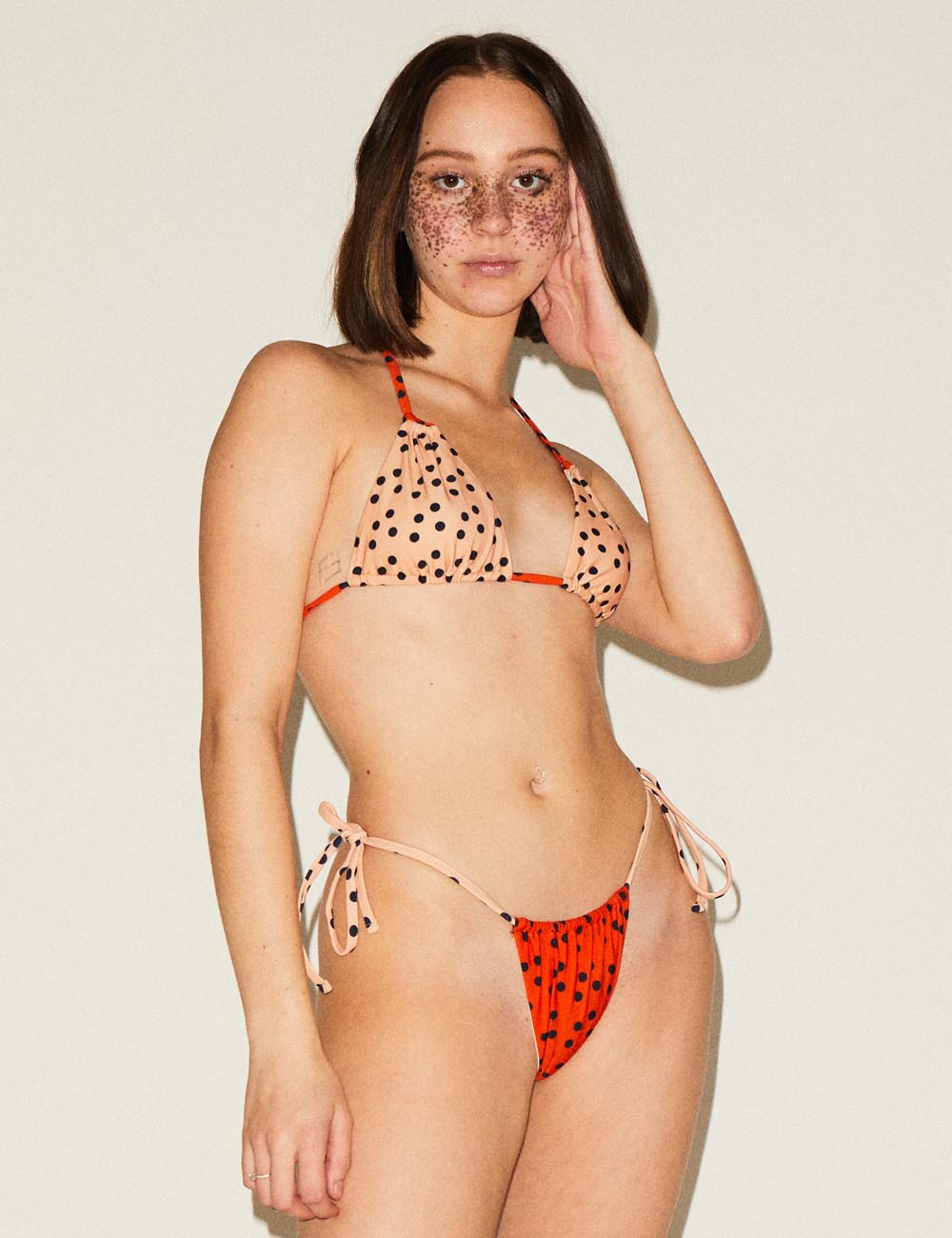 Melissa (MINIMAL COVERAGE) Spot Triangle Bikini Top