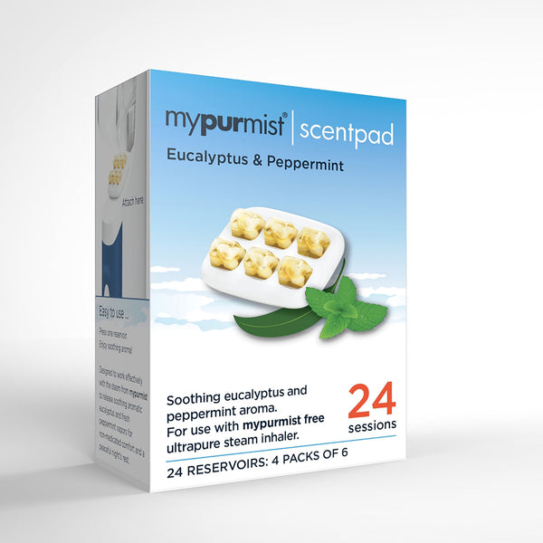mypurmist free cordless steam inhaler scentpad accessory box