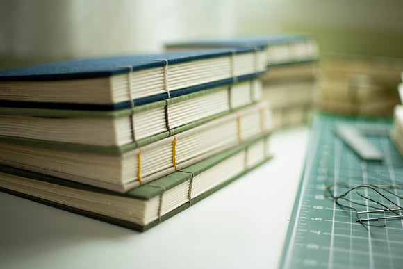Large hand-bound sketchbooks.  Photo by EGB Photography.