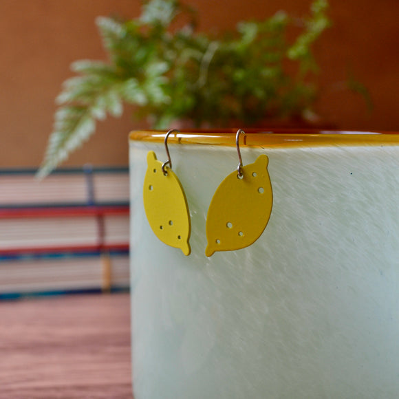 Robin's Egg Blue Leaf 'Doodle' Earrings