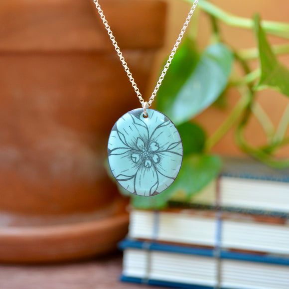 Triple Enamel Circle Earrings, Ocean