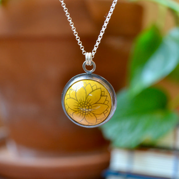 Translucent Green Powdercoated Banana Leaf Necklace