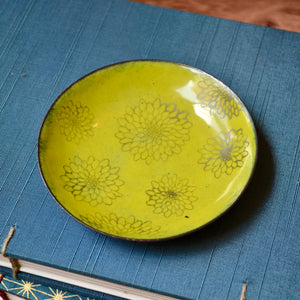 Green Enamel Tree 'Doodle' Earrings
