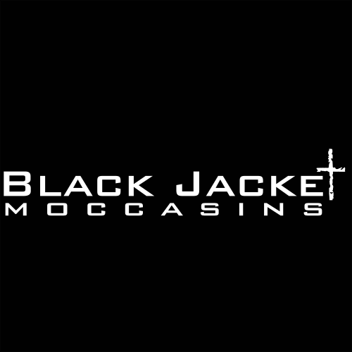 gift card with black jacket moccasins logo on black background