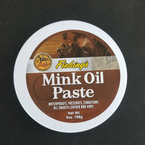 Fiebing's Mink Oil Paste tub top view