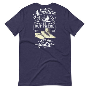 Adventure Is Out There Tee, White Print