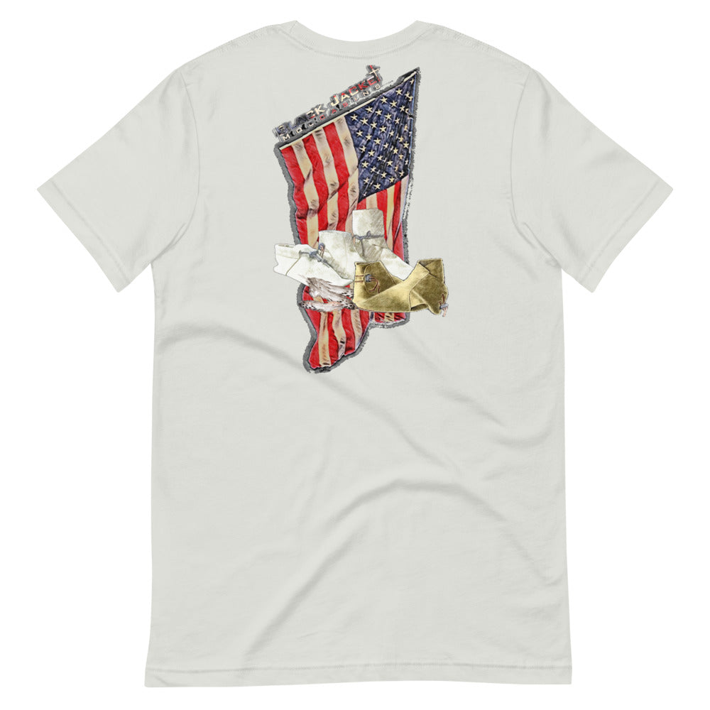 Distressed American Flag Tee