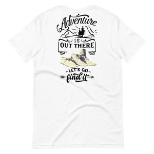 Big & Tall Adventure is Out There Tee, Black Print