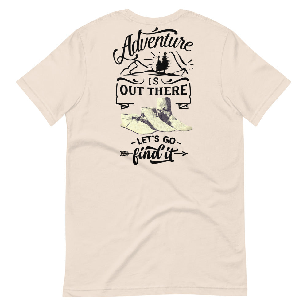 Adventure Is Out There Tee, Black Print