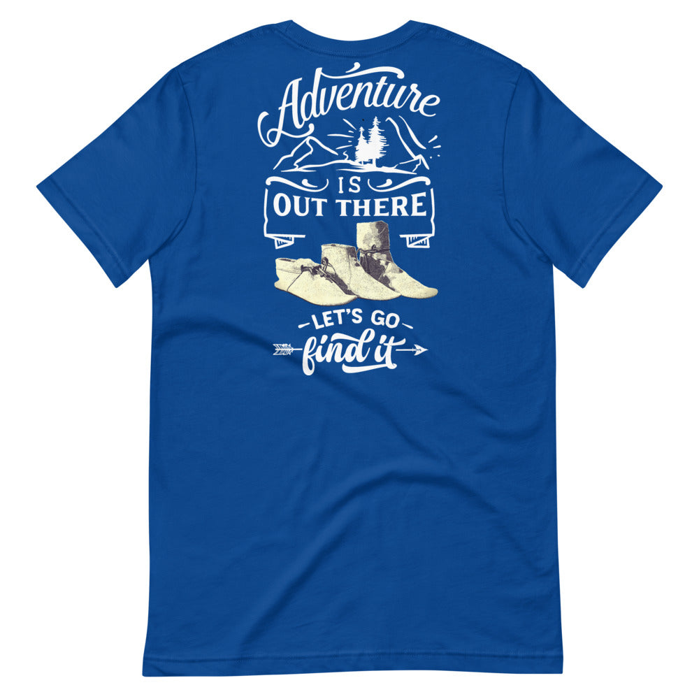 Big & Tall Adventure Is Out There Tee, White Print