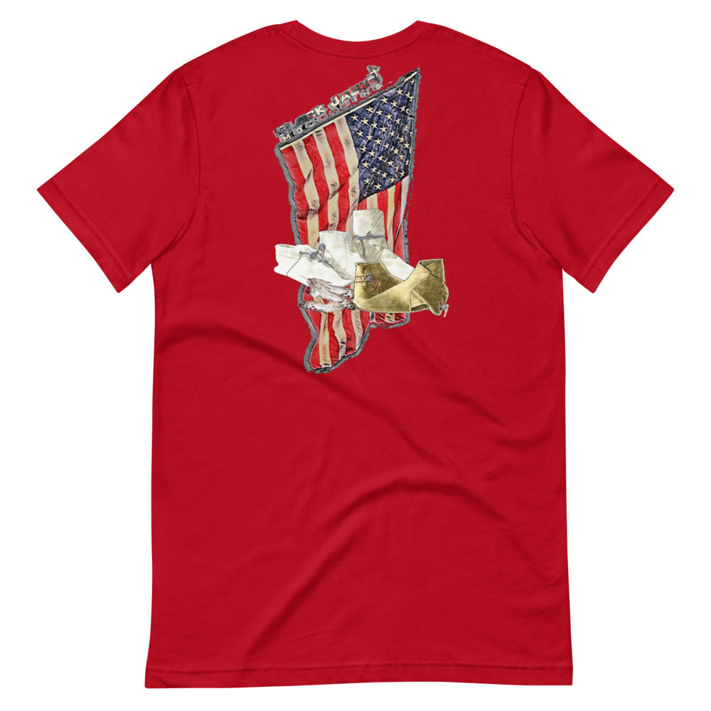 Big & Tall Distressed American Flag Tee