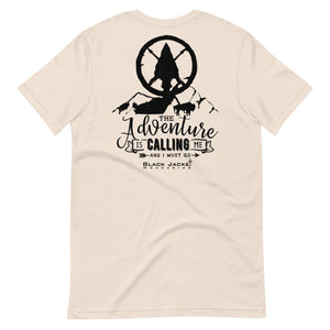 The Adventure is Calling Me Tee, Black Print