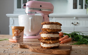 Carrot Cookie Ice Cream Sandwiches (vegan)