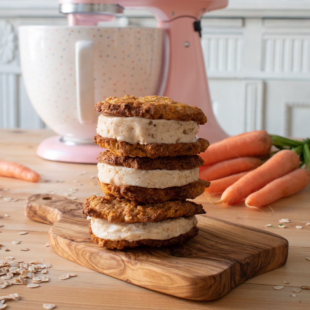 Carrot Cookie Ice Cream Sandwiches