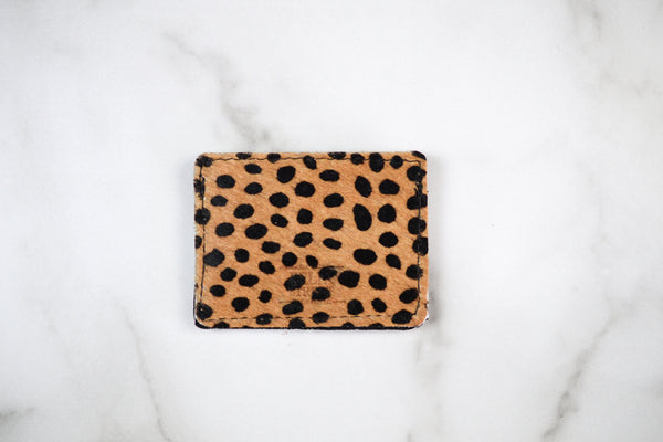 Hair On Cheetah Slim Wallet