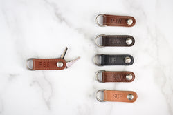 Leather Organizer Key Fob