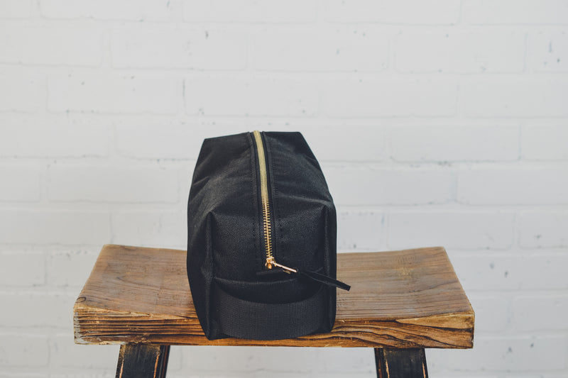 Black Canvas Toiletry Bag
