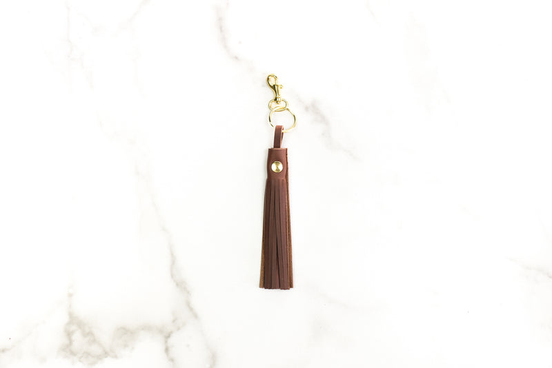 Bohemian Leather Tassel  Key Fob