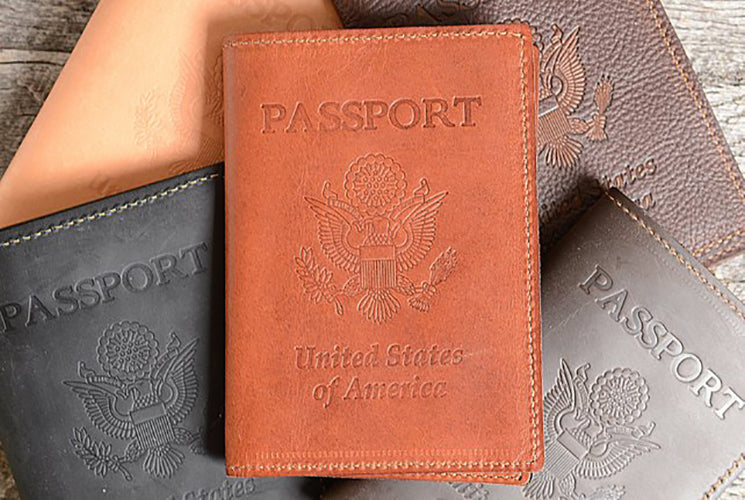Passport Holder + Luggage Tag Gift Set
