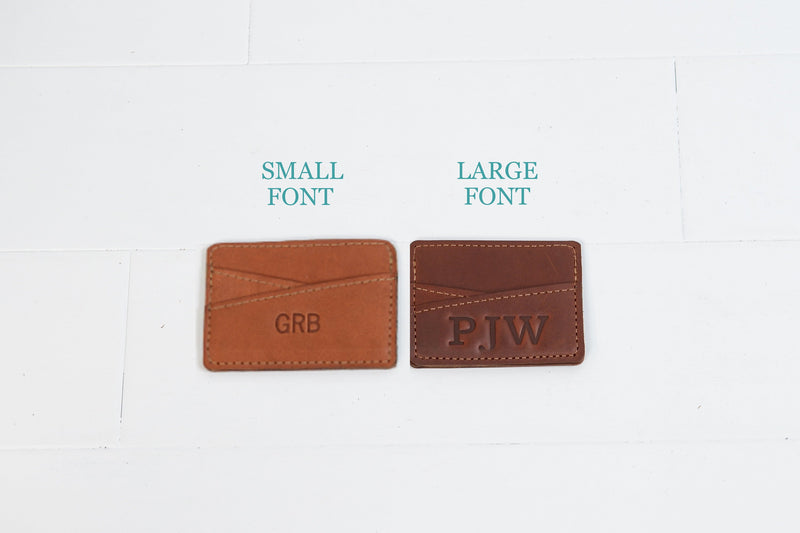 Personalized Leather Monogram Slim Wallet | Minimalist Simple Festival Pocket Wallet | Groomsmen Gift for Man Boyfriend Husband Dad Grad