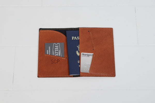 Personalized Leather Passport Holder with USA Brand| Custom Leather Passport Cover |Travel Wallet Groomsmen Gift for Men Husband Dad Brother