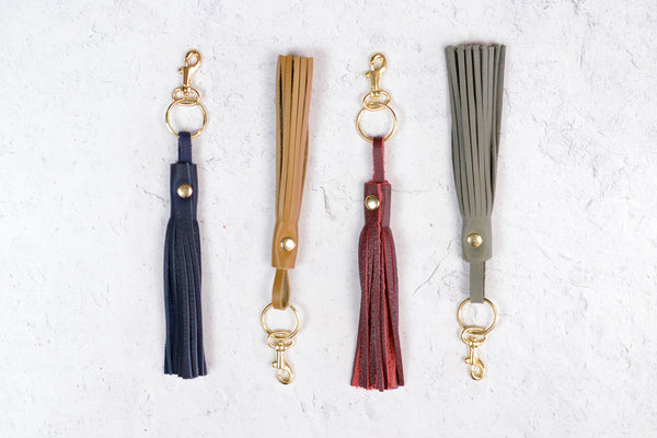 Bohemian Tassel Add On or Keychain Tassel | Leather Tassel Leather Key Fob | Leather Fringe Tassel Key Chain Loop Tassels Bag Charm Handbag