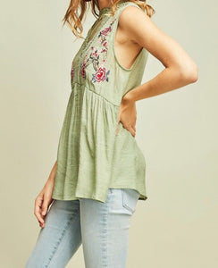 Mint Mock Neck top