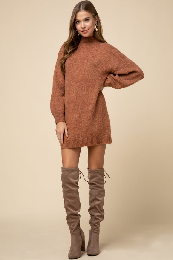 Rust Sweater Dress