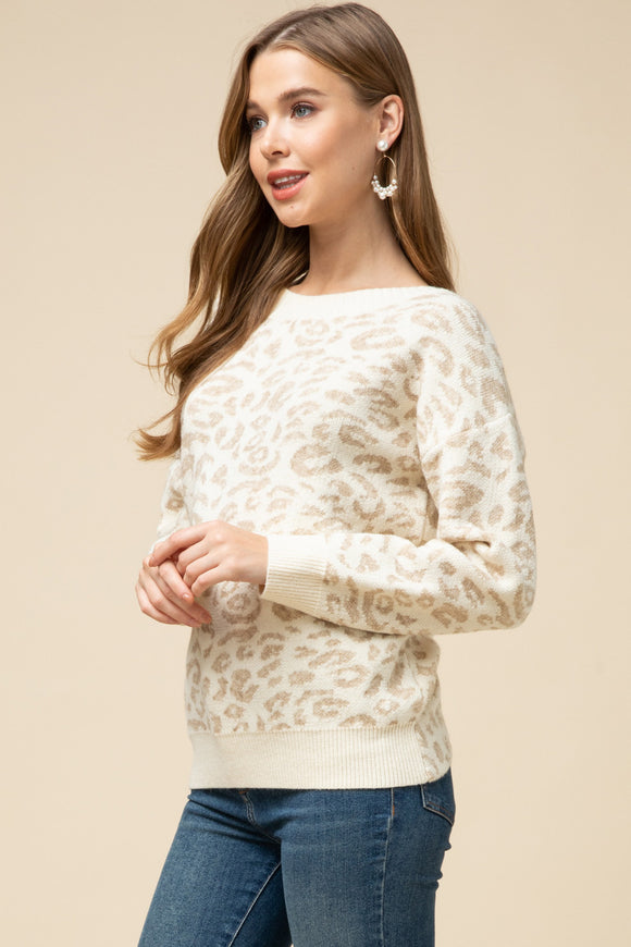 Leopard Twist Sweater