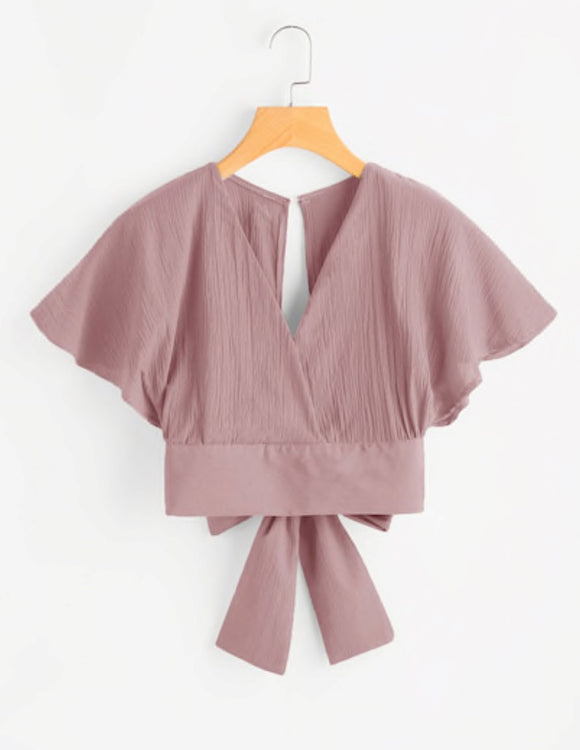 Rose surplice top