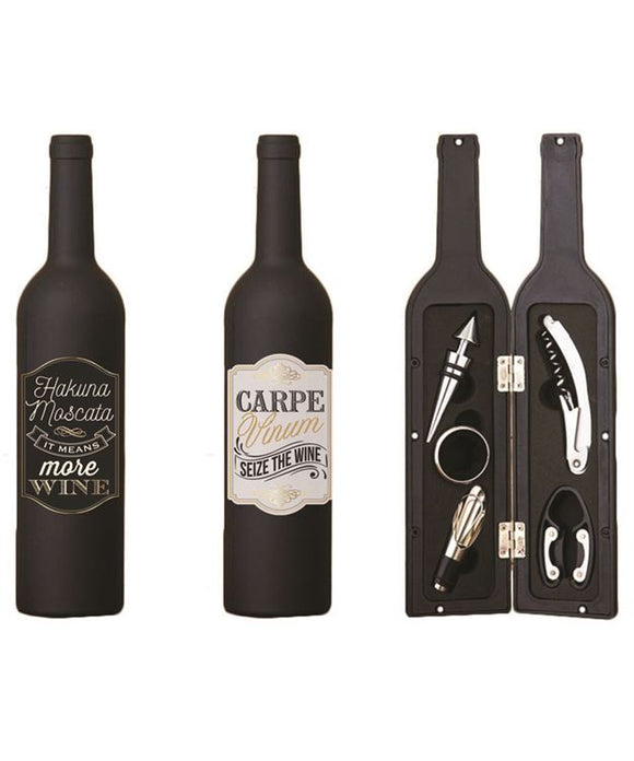 5 Piece Wine Bottle Set