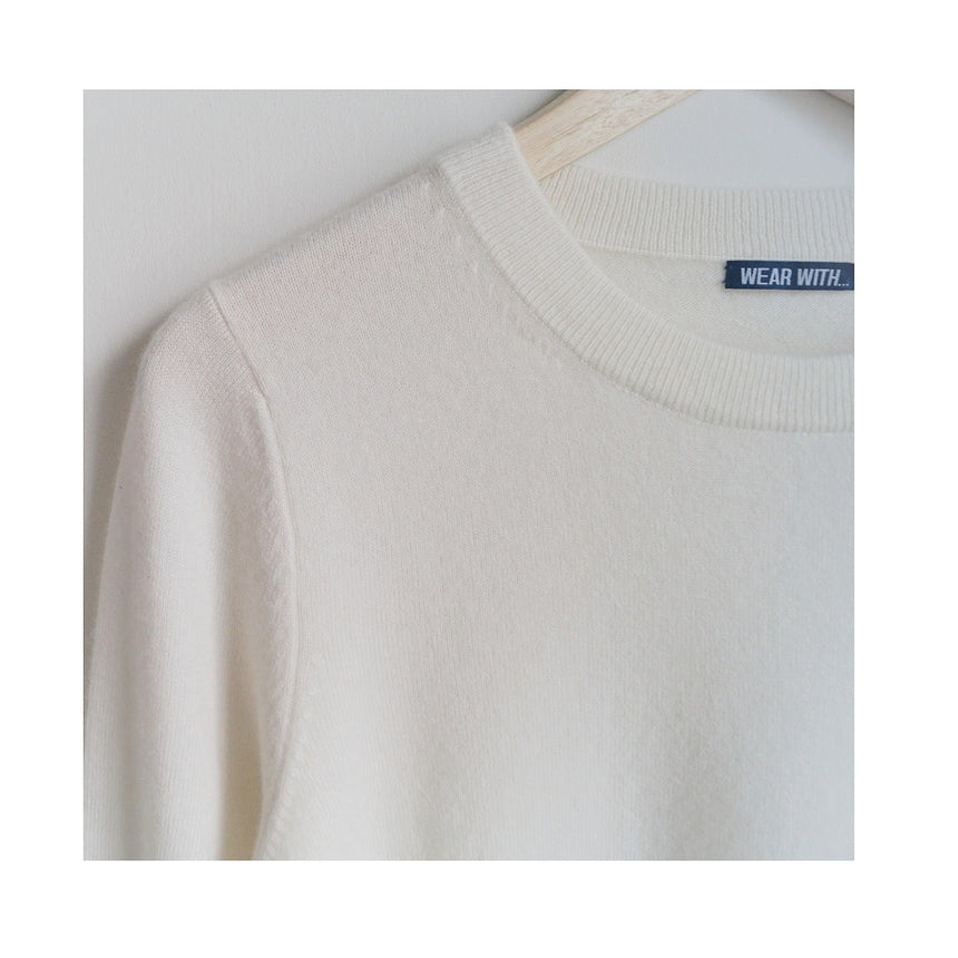 Organic Cashmere Sweater - Pearl