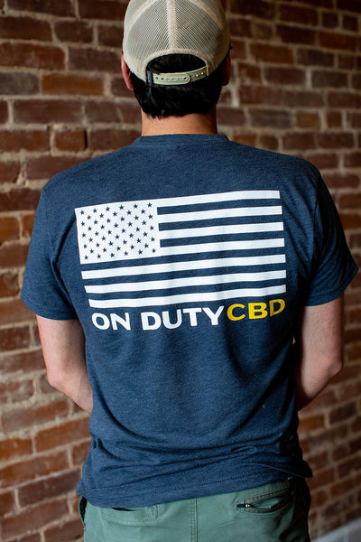 On Duty CBD American Flag T-Shirt
