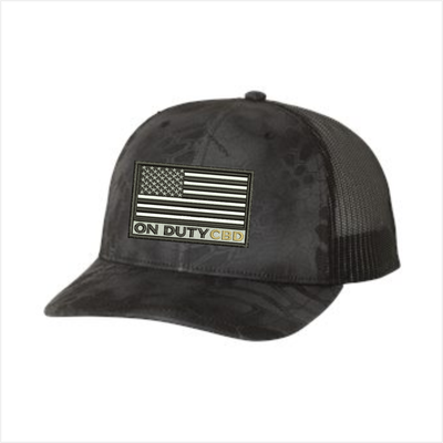 On Duty CBD  American Flag  Trucker Hat